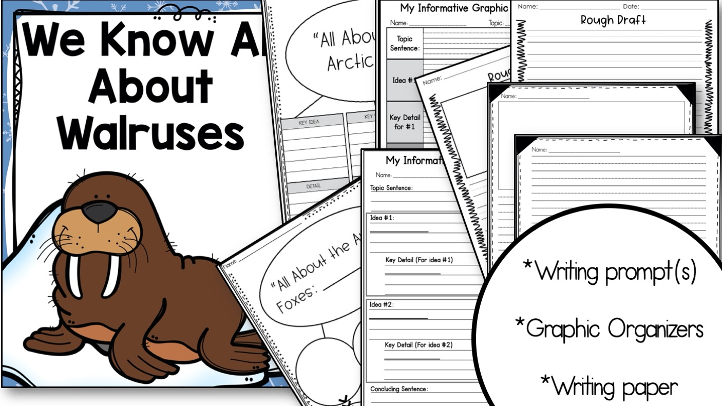 Writing materials and graphic organizers
